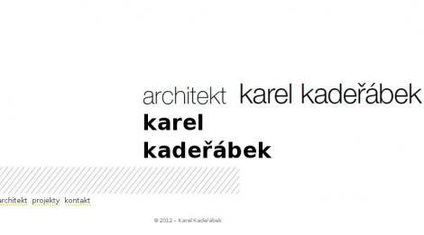 architekt Karel Kadeřábek